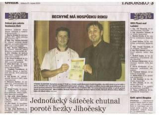 Vyhráli jsme soutěž Hospůdka roku 2010