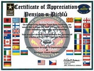 Obdrželi jsme ocenění za služby od Team Badger z Německa